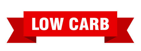 low carb ribbon. low carb isolated band sign. low carb banner