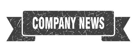 company news ribbon. company news grunge band sign. company news banner Illusztráció