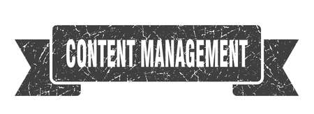 content management ribbon. content management grunge band sign. content management banner