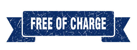 free of charge ribbon. free of charge grunge band sign. free of charge banner