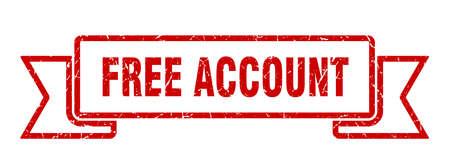 free account ribbon. free account grunge band sign. free account banner Иллюстрация