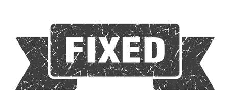 fixed ribbon. fixed grunge band sign. fixed banner