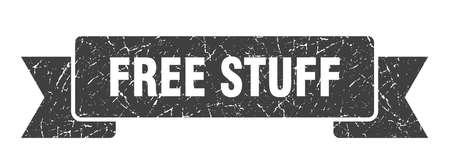 free stuff ribbon. free stuff grunge band sign. free stuff banner