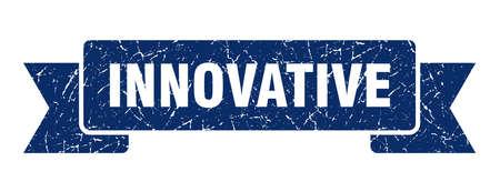 innovative ribbon. innovative grunge band sign. innovative banner Stockfoto - 151147950