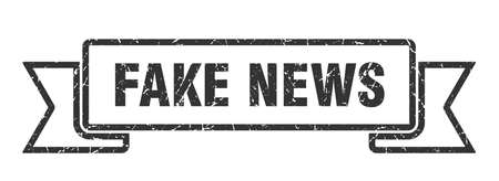 fake news ribbon. fake news grunge band sign. fake news banner Illusztráció