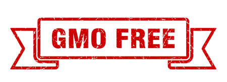 gmo free ribbon. gmo free grunge band sign. gmo free banner