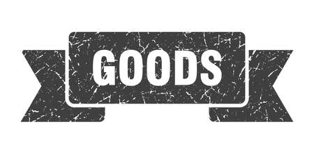 goods ribbon. goods grunge band sign. goods banner