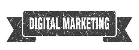 digital marketing ribbon. digital marketing grunge band sign. digital marketing banner