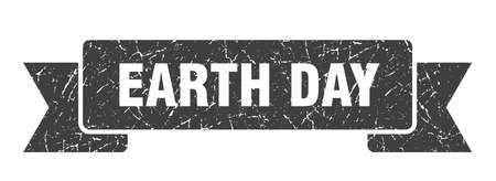 earth day ribbon. earth day grunge band sign. earth day banner