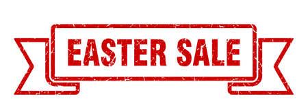 easter sale ribbon. easter sale grunge band sign. easter sale banner