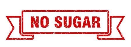 no sugar ribbon. no sugar grunge band sign. no sugar banner Иллюстрация