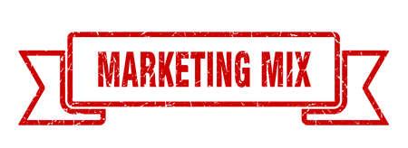 marketing mix ribbon. marketing mix grunge band sign. marketing mix banner