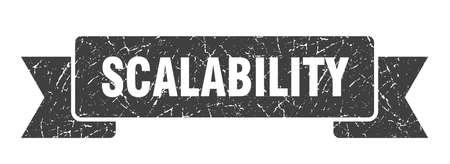 scalability ribbon. scalability grunge band sign. scalability banner 向量圖像