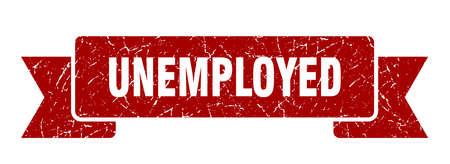 unemployed ribbon. unemployed grunge band sign. unemployed banner Ilustrace