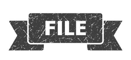 file ribbon. file grunge band sign. file banner