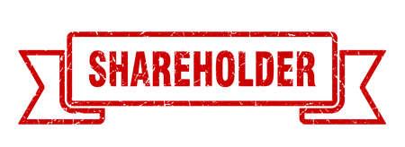 shareholder ribbon. shareholder grunge band sign. shareholder banner