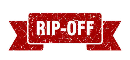 rip-off ribbon. rip-off grunge band sign. rip-off banner Vettoriali