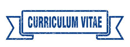 curriculum vitae ribbon. curriculum vitae grunge band sign. curriculum vitae banner Vectores