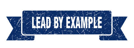 lead by example ribbon. lead by example grunge band sign. lead by example banner