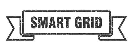 smart grid ribbon. smart grid grunge band sign. smart grid banner Ilustrace