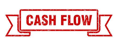 cash flow ribbon. cash flow grunge band sign. cash flow banner
