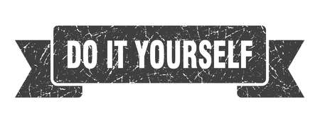 do it yourself ribbon. do it yourself grunge band sign. do it yourself banner Stock Illustratie