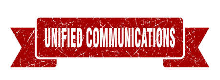 unified communications ribbon. unified communications grunge band sign. unified communications banner