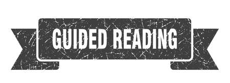 guided reading ribbon. guided reading grunge band sign. guided reading banner