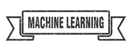 machine learning ribbon. machine learning grunge band sign. machine learning banner