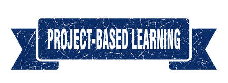 project-based learning ribbon. project-based learning grunge band sign. project-based learning banner 일러스트
