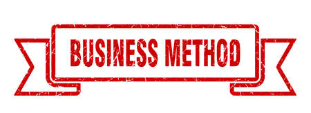 business method ribbon. business method grunge band sign. business method banner