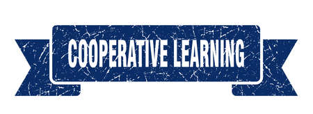 cooperative learning ribbon. cooperative learning grunge band sign. cooperative learning banner