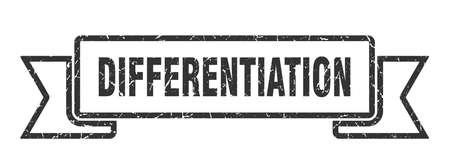 differentiation ribbon. differentiation grunge band sign. differentiation banner Stock Illustratie
