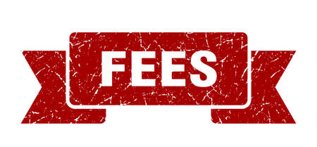fees ribbon. fees grunge band sign. fees banner