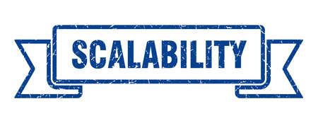 scalability ribbon. scalability grunge band sign. scalability banner