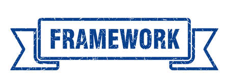 framework ribbon. framework grunge band sign. framework banner
