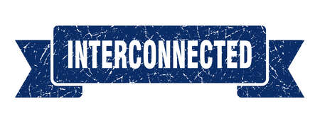 interconnected ribbon. interconnected grunge band sign. interconnected banner Stock Illustratie