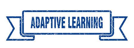 adaptive learning ribbon. adaptive learning grunge band sign. adaptive learning banner