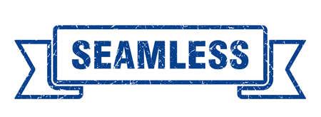 seamless ribbon. seamless grunge band sign. seamless banner 向量圖像