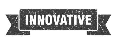 innovative ribbon. innovative grunge band sign. innovative banner Stockfoto - 150982944