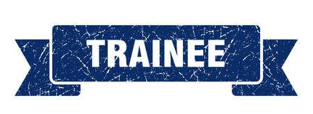 trainee ribbon. trainee grunge band sign. trainee banner Vektorové ilustrace