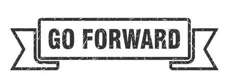 go forward ribbon. go forward grunge band sign. go forward banner Illustration