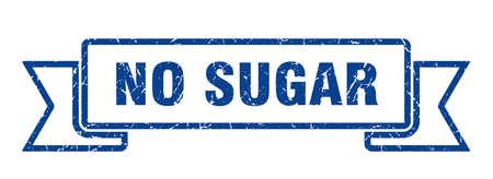 no sugar ribbon. no sugar grunge band sign. no sugar banner Фото со стока