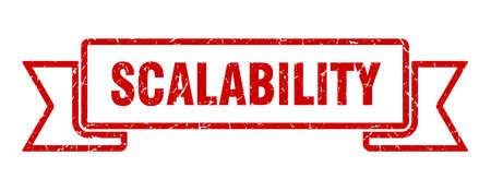 scalability ribbon. scalability grunge band sign. scalability banner 版權商用圖片