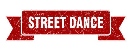 street dance ribbon. street dance grunge band sign. street dance banner Stockfoto