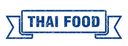 thai food ribbon. thai food grunge band sign. thai food banner Reklamní fotografie - 151148936