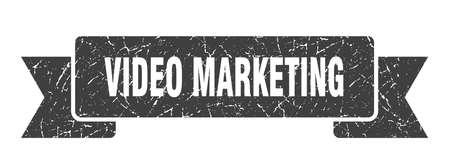 video marketing ribbon. video marketing grunge band sign. video marketing banner