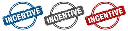 incentive stamp. incentive sign. incentive label set Vettoriali
