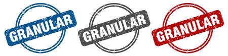 granular stamp. granular sign. granular label set