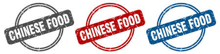 chinese food stamp. chinese food sign. chinese food label set
